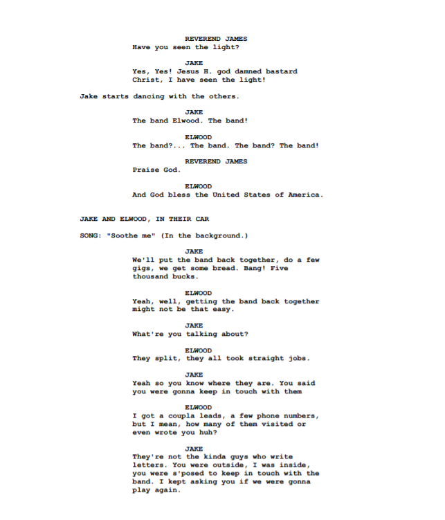 How to format movie script writing