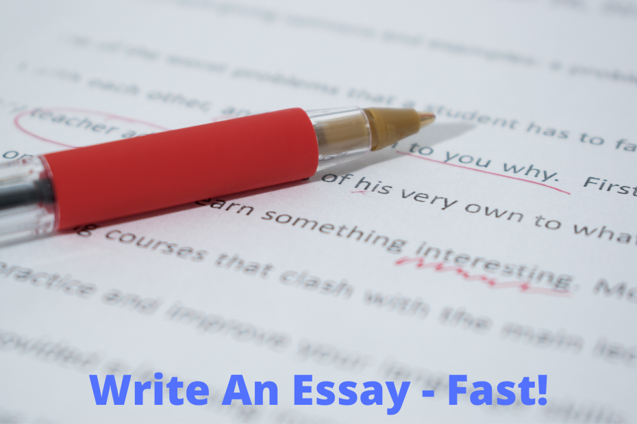 Plan and write an essay fast
