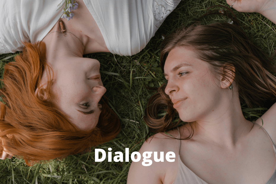 Written conversation between two characters_featured image